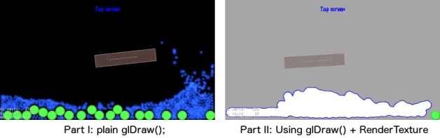 Comparing simple glDraw() with glDraw() + RenderTexture